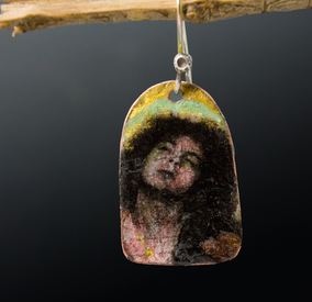 Mixed media, copper, torch fired enamels, iron oxide pigments, laquer
