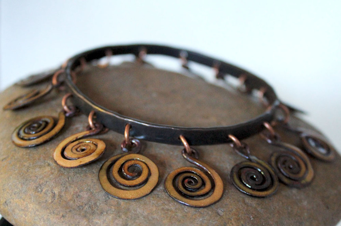 Primitive Spiral Bangle