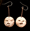 Chased Faces, earrings