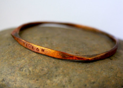 Forged Copper Bangle